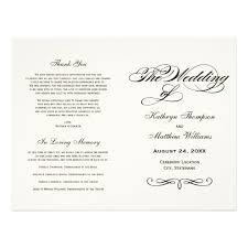 In Loving Memory For Wedding Programs Unique Wedding Ideas