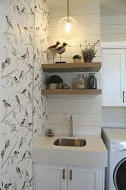 Laundry Room Wallpaper Designs Painted Shiplap Accent Walls In Rich Colors Painting
