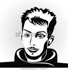 Vector Portrait Man Flat Illustration Male Stock Vector Royalty