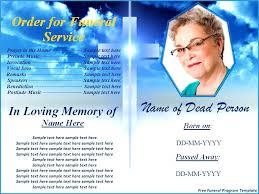 Free Funeral Program Template Word Brochure Pamphlet Long
