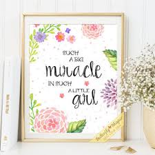 nursery print quote art baby girl wall decor such a big miracle in such a little on baby girl wall art quotes with nursery print quote art baby girl wall from butterflywhisper on
