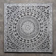 morrocan design carved wood wall art panel from thailand distress white wash 100x100 moroccan decent  on distressed white wood wall art with buy moroccan decent wood carving wall art hanging online