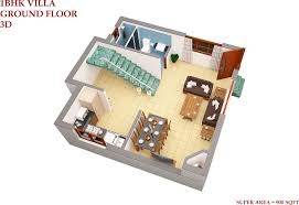 Studio Apartment In Ranikhet D View Ground Floor  Idolza - Studio apartment floor plans 3d