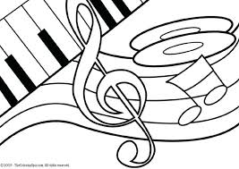 Small Picture Music Note Coloring Pages Corresponsablesco