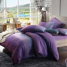 twilight purple and dark green ocean waves stripe print girls bedroom full queen size damask bedding sets