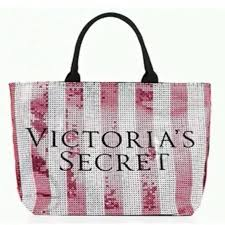 victoria s secret pink limited edition sequin large tote bag