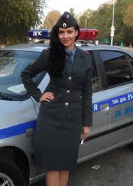 Russian girls amp police