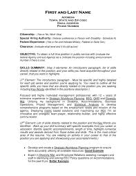 Example Of Resume Objectives Resume And Cover Letter Resume And