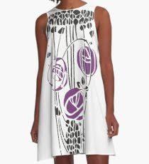 charles rennie mackintosh roses 4 a line dress
