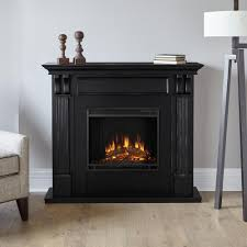 ashley 48 in electric fireplace in blackwash