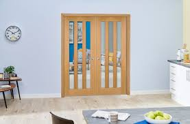 aston oak internal french doors image