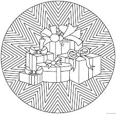 Mandala Noel Boulot Id E Pinterest Mandala Noel Coloriage