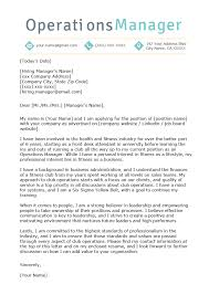 Sample Of A Professional Cover Letter Operations Manager Cover Letter Example Resume Genius
