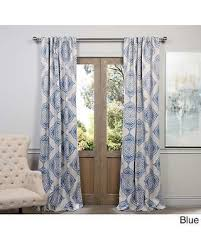 blackout curtains pair. Unique Curtains Moroccanstyle Thermal Insulated Blackout Curtain Panel Pair 84Inch Blue For Curtains N