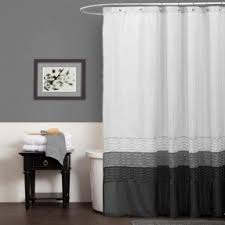 black and white shower curtains. Black And White Fabric Shower Curtain 2 Curtains