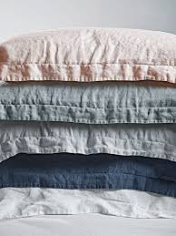washed linen bedding