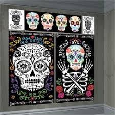 Day Of The Dead <b>Scene</b> Setter - 1.5m <b>Halloween Decoration</b> ...