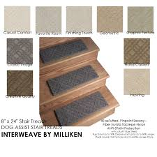 interweave dog assist carpet stair treads 8 x24 13 treads per set in multiple colors nylon by milliken