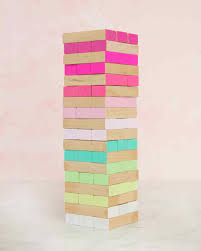 How To Play Tumbling Tower Wooden Block Game Ombre Tumbling Tower Game Martha Stewart 85