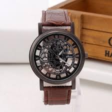 Fashion <b>Business Skeleton Watch</b> Men Engraving Hollow Reloj ...