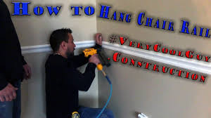 chair rail molding best way for professional installation