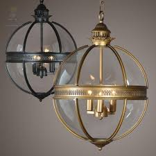 ouruiju vintage loft glass globe pendant light iron round ball lamp shade hanging lamp kitchen e home e14 lighting fitting chandeliers vintage