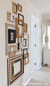 picture frames on wall. DIY Frame Gallery Wall! Inspiration On Using Old Empty Frames As Home Decor! Picture Wall