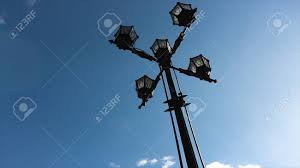 Old Fashioned Street Lights Classic Older Lamp And Blue Sky Old Fashioned Street Light Against
