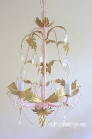 mini bling chandelier after close
