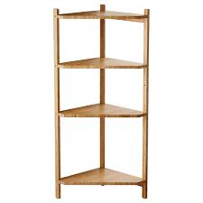 rÅgrund corner shelf unit bamboo x cm  ikea