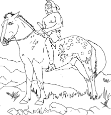 Indian Horse Coloring Sheets Indian Horse