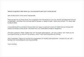 Sample Professional Resignation Letter Example Resignation Letter Friendly Sample Resignation Letter