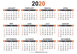 Calendar 2020 Template Free 2020 Free Printable Calendar Templates