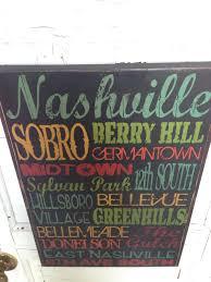 Nashville Sign Decor Nashville Tennessee City Areas Typography Sign On Wood Music City 72