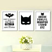 batman kids room cartoon batman canvas art print superhero painting poster nursery batman wall pictures for