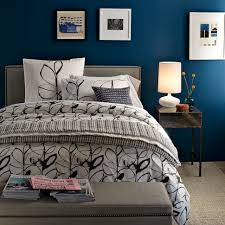 Black White Blue Bedroom Ideas And