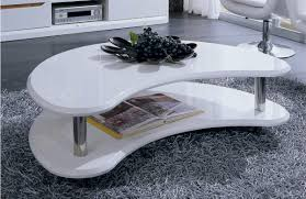modern white lacquer coffee table