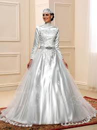 high neck appliques sequins muslim wedding dress tbdress com