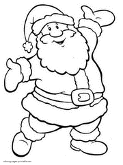 Small Picture Santa Claus coloring pages for kids