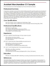Assistant Merchandiser Cv Sample Perfect Resume Sample For