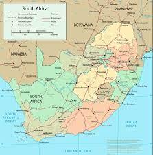 Güney Afrika Haritaları | İndirmeniz için Yazdırılabilir Güney Afrika  Haritası