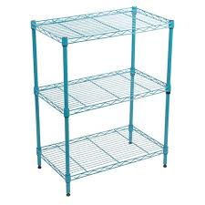 popular target wire shelving 3 tier adjule turquoise room essential about thi item unit chrome cube