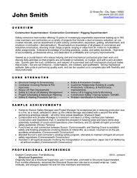 construction foreman resume samples