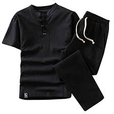 Irene <b>Summer</b> Fashion <b>Shorts Set</b> Suit Tracksuit Men's Cotton and ...