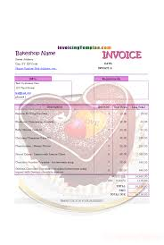Invoicing Format For Bakery And Cake Shop Stuff To Buy In 2019
