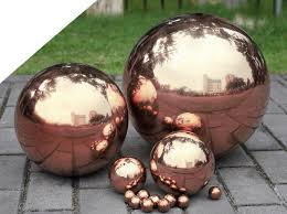 Decorative Metal Balls Rose Red 100 Stainless Steel Hollow Float Sphere Decorative Golden 98