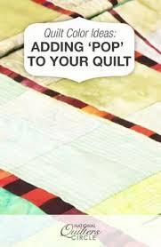 Quilt Color Ideas: Adding 'Pop' to Your Quilt &  Adamdwight.com