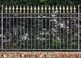 fence wall design metal garden fencing