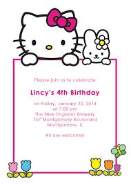 Hello Kitty Invitation Printable Hello Kitty Free Birthday Invitation Wedding Invitation Templates