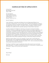 Business Letters Sample Job Application Letter For Teacher